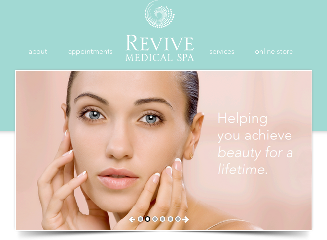 Revive Medical Spa Website