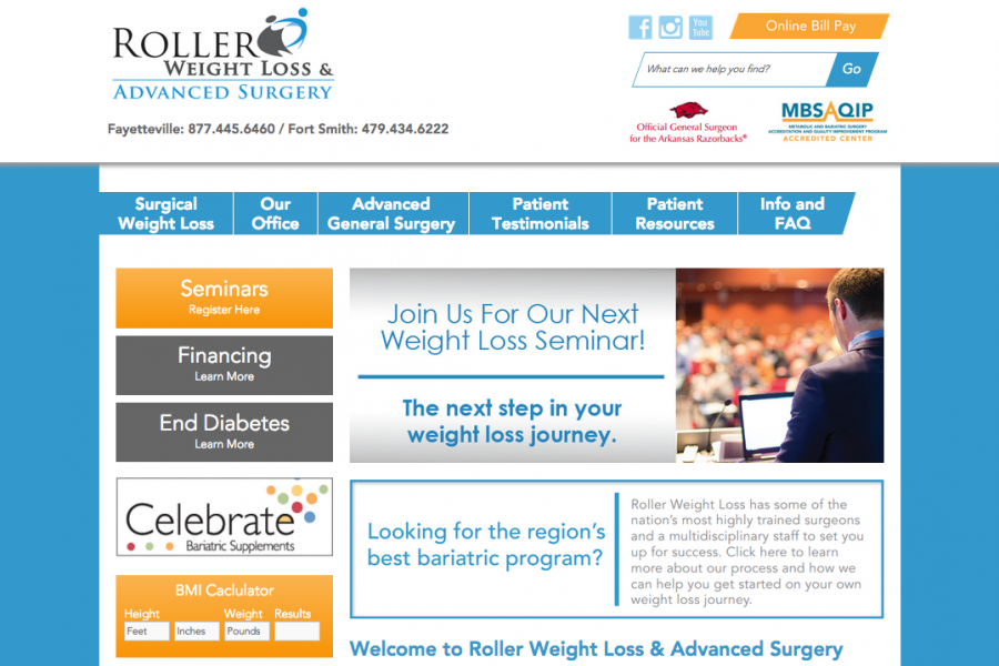 Roller Weight Loss & Advanced Surgery Website